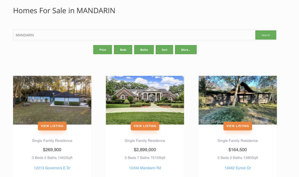 Mandarin Homes For Sale